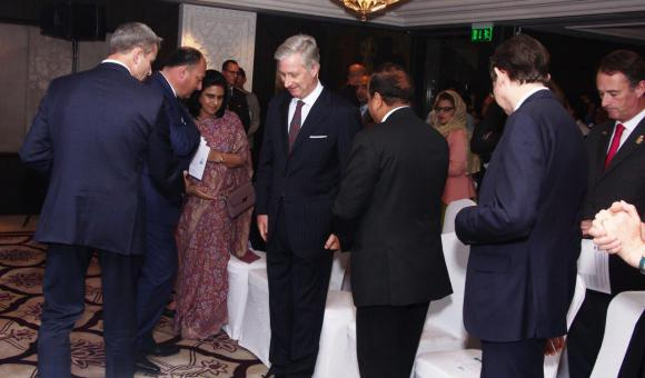 Welcoming His Majesty the King of the Belgians